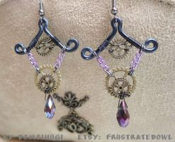 Goth steampunk earrings by DombiHugi