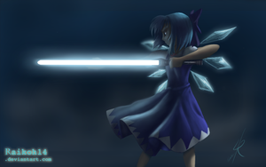 Cirno with a lightsaber by Raikoh-illust