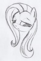 Fluttershy sketch 3 by otto720