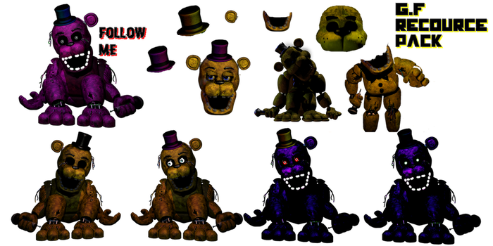 Golden Freddy Recource Pack by Kero1395