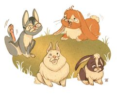Funny Bunnies by LauraDollie