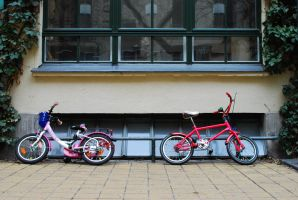 Parked Bicycles by DerMarGot