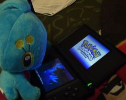 Manaphy Playing Pokemon by L-H4x3D