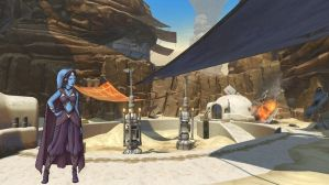 Star Wars Leia Visits Tatooine by Aliens-of-Star-Wars