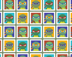TMNT stamp wallpaper by FREAKfreak