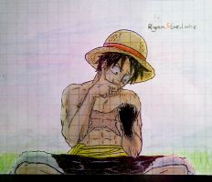 Luffy drawing (Haki?! what is this?) by Ryan5Gediche