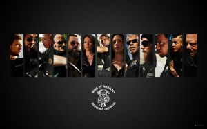 Son's Of Anarchy Wallpaper by kcaudesign