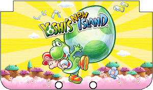 Nintendo 3DS XL Yoshi's New Island Faceplate by TheWolfBunny