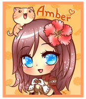 Amber's Avatar with a lil kitty !! by BlueRoseLoL