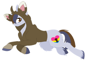 Prideful Pan in a Minccino Hoodie by SarahHardy01