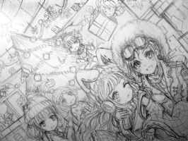 All My OC. For Christmas Party. W.I.P by kurolucifer92
