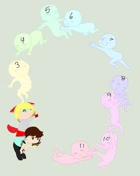 group o' friends :COLLAB: by FunnyBoneSans
