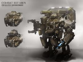 Combat Bot MK9 Construction by alexdrummo