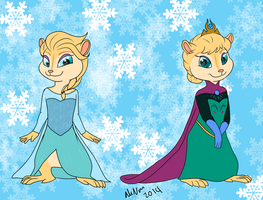 Queen Elsa Chipmunk by Marukio
