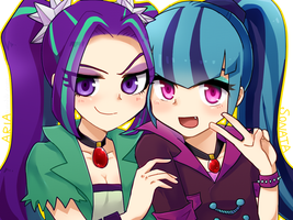 MLP EqG: Aria and Sonata by 00riko