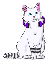Headphone Cat by DeathPhantom