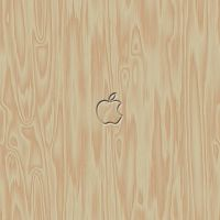 Wooden Apple iPad Wallpaper by Cheddar79