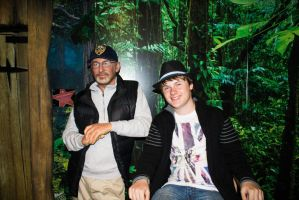 hangin with steven spielberg by pictobrony