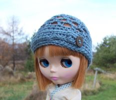 Blythe Hat with Button by ChezMichelle