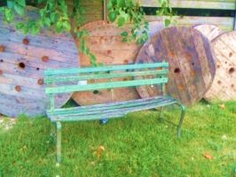 The Old Green Bench by SwiftWindSpirit