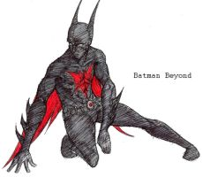 Batman Beyond sketch by redblacktac