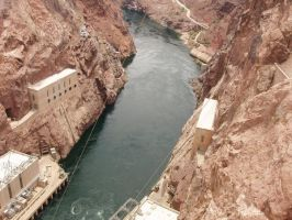 Hoover Dam: Lower Side III by rejectedrocker