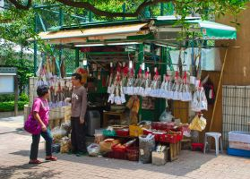 Dried fish stall by asiaseen