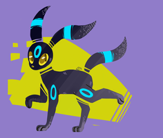 Day 2- Umbreon by BlumanX
