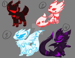 Themed Adopts 1-4 CLOSED by FlamesVoices