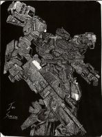 Armored Core Scratchboard by ChaoticChild555