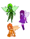 Secondary color fairies by death-g-reaper