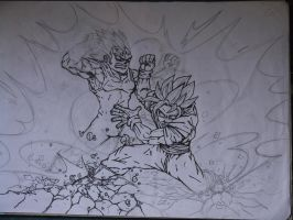 goku vs vegeta (unfinished) by royksl