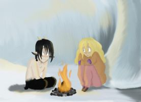 In the Ice Cave by The-Happy-Apple