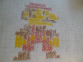 Mario notebook pixel art by Supermanxdlolol