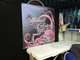 My sign at the Tattoo show! by Squishy-Mew