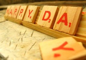 Scrabble Tiles+Happy Day by aydap