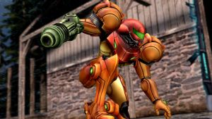 Geneirc Landing Samus Pose by dumbass333