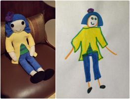 Custom plush from child's drawing-2 by m-sharlotte