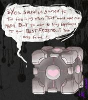 Weighted Companion Cube Says by 9BaKa-NEKO9