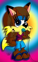 Foxie the Singer by JimmyCartoonist