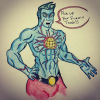 Sketch Dailes Topic: Captain Planet by Adam430k
