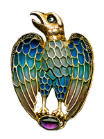 Art Deco Eagle brooch by LilipilySpirit