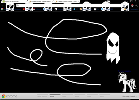 Google Chrome theme of Ghost dude by FunnyGamer95