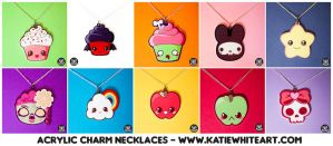 Acrylic Charm Necklaces - Collection I by pai-thagoras