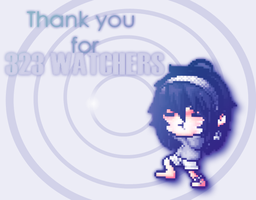 = Thank you for 323 WATCHERS!! by iAuliffy