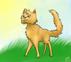 The wind is blowing - cat by Arkare