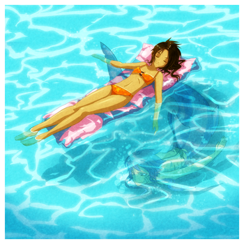 In the pool. by ZombieDaisuke