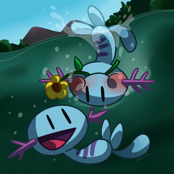 Wooper couple by LuchoVolke