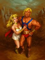 he-man and she-ra by scorpy-roy