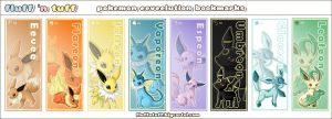 Eeveelution bookmarks by Fluffntuff